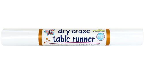 """Draw,... Imagination Starters Reusable Washable Chalkboard Table Runner 16""""x72"""""""