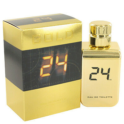 24 Gold The Fragrance 3.4 oz Eau De Toilette Spray by ScentStory for Men