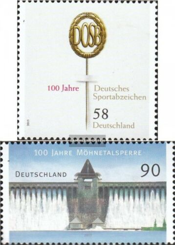 FRD FR.Germany 2999,3000 fine used cancelled 2013 sports, Möhnetalsperre