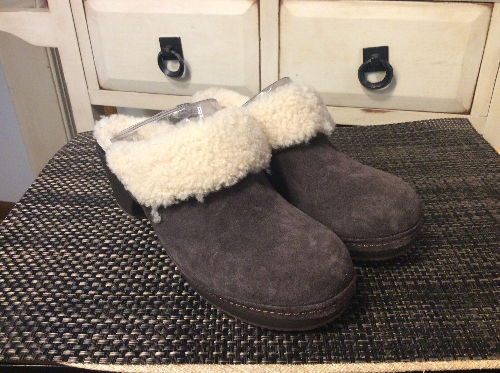 Damens's Crocs Sarah Luxe Shearling Lined Clog Braun Item #203413 Sz W7