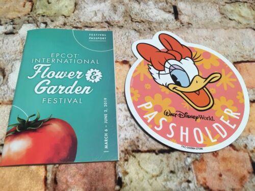 Disney World Annual Passholder Magnet DAISY 2019 Epcot Flower Garden Festival