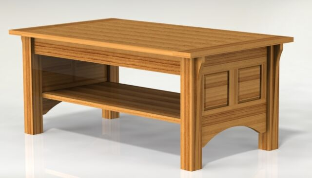 Shaker Style Coffee Table Woodworking Plans Ebay