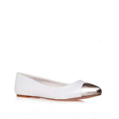 LARRY CARVELA KURT GEIGER PATENT WHITE WOMENS LADIES SHOE