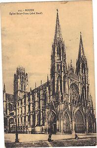 76-CPA-Rouen-Kirche-Sankt-Ouen-seite-Nord