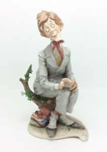 Capodimonte-Capa-Ama-Me-Hombre-con-Flor-Porcelana-Estatuilla-De-20-3cm-20cm