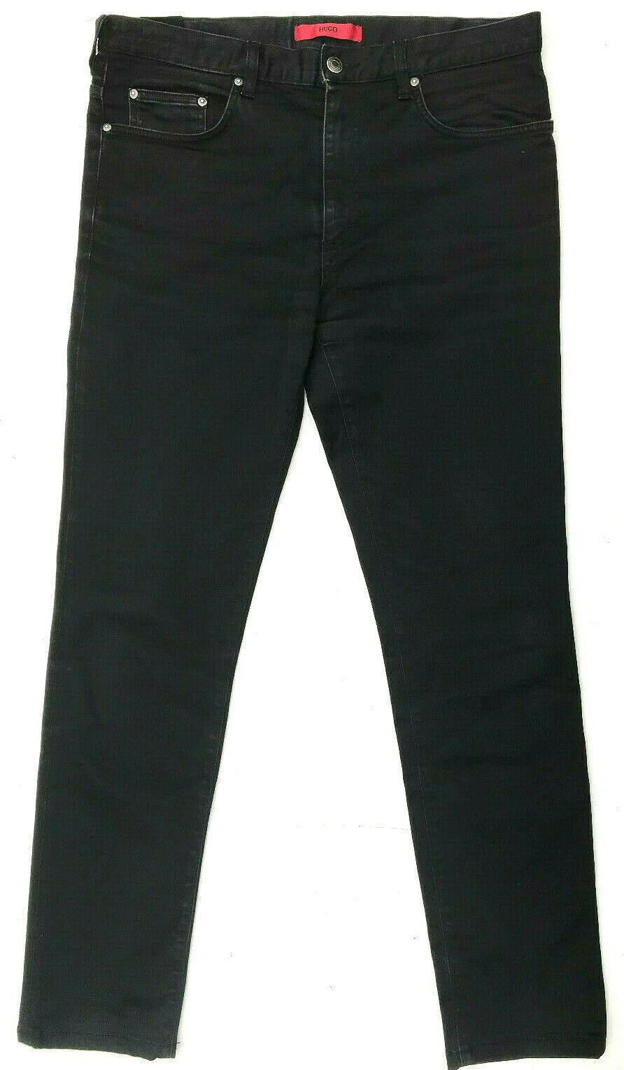 "Mens Jeans ""Hugo De Hugo Boss  021 2& 039; Negro Calce Regular Tamaño W34 L32  compras de moda online"