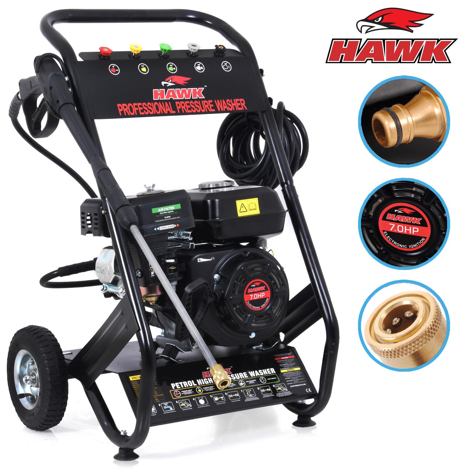 hawk tools 196cc 200 bar 3000psi 7hp petrol power cleaner. Black Bedroom Furniture Sets. Home Design Ideas