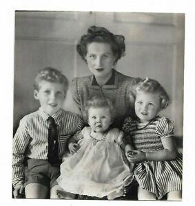 6 x 7 original Marcus Adams Photo Mrs. Douglas Pilkington & Children