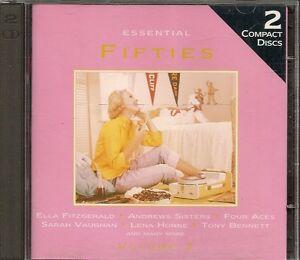 2-CD-COMPIL-52-TITRES-ESSENTIAL-FIFTIES-VAUGHAN-HORNE-BENNETT-FITZGERALD