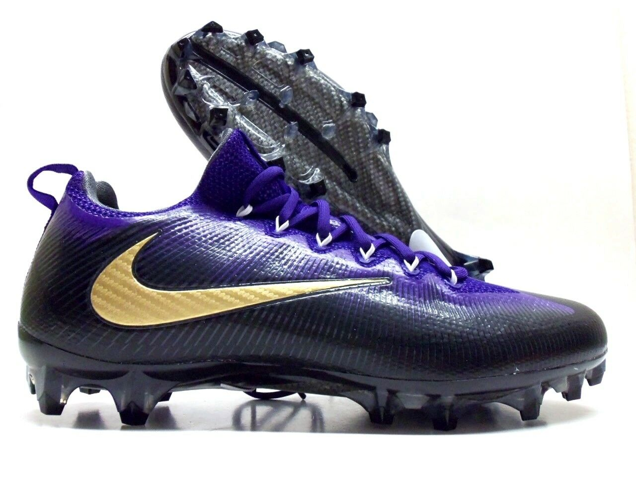 NIKE VAPOR UNTOUCHABLE PRO iD FOOTBALL CLEATS BLACK/PURPLE MEN'S 12 [872065-991]