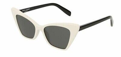Bello Saint Laurent Sl244 244 51 003 Victoire Sunglasses White Matte Occhiale Sole Per Spedizioni Veloci