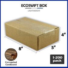 1 200 8x5x4 Ecoswift Cardboard Packing Mailing Shipping Corrugated Box Cartons