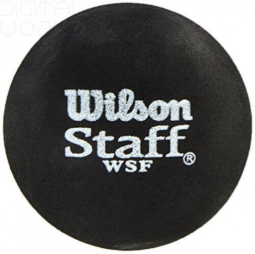 point bleu noir Wilson Staff Squash Balls Pack de 1