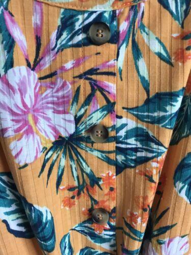 Flower Print Orange BNWOT Matalan Sleeveless Tie Top Girls Age 9-13 Years