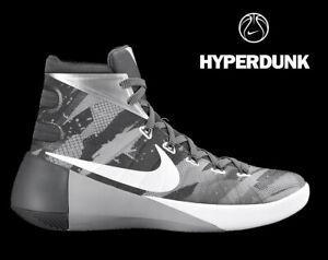 best sneakers cf24e 2a13f Image is loading MEN-039-S-NIKE-HYPERDUNK-2015-034-GRAY-