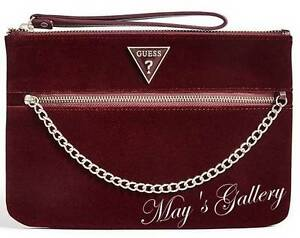 Guess-Handbag-Purse-Wallet-Wristlet-Evening-Hand-Pouch-tote-Bag-coin-Zip-NWT