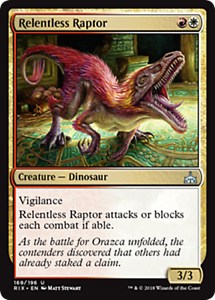 4 RELENTLESS RAPTOR ~mtg NM Rivals of Ixalan Unc x4