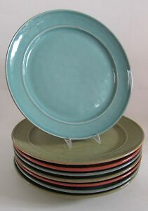Pottery Barn CAMBRIA Handcrafted Portugal Dinner Plates 12\