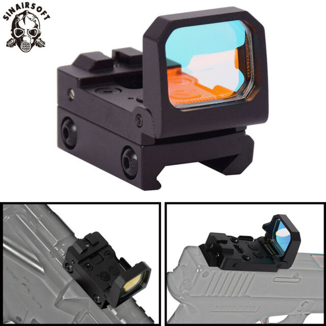 Tactical Reflex RMT Scope Fold Red Dot Sight Holographic Rifle Flip Sight 3 MOA