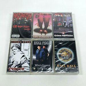 Lot-6-Cassette-Tapes-Explicit-Rap-Hip-Hop-90-039-s-Crime-Affiliates-Major-Figgas-NEW