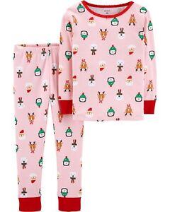 9d50ca5e7ac7 NEW Carter s Girls 2 Piece PJs Fun Holiday Penguin Santa 3T 4T 5T 6 ...