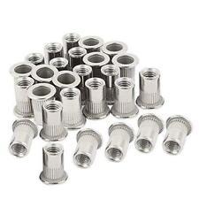 40pcs M6 Rivet Nuts Stainless Steel Threaded Insert Nutsert Rivnuts M6 10
