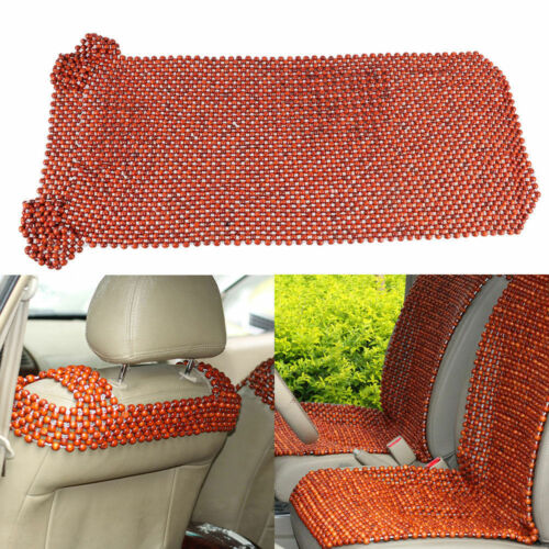 1X Car Taxi Home Front Seat Cover Cushion African Rosewood Bead Beaded Massages