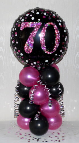 70th  BIRTHDAY AGE 70 FEMALE -GIRL FOIL BALLOON DISPLAY -TABLE CENTREPIECE