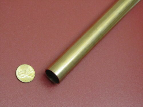 "260 Brass Tube 3//4/"" OD x .032/"" Wall x .686/"" ID x 3 Ft Length"