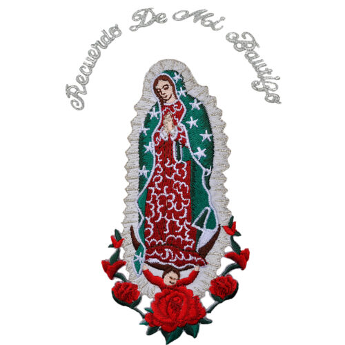Baby Christening Baptism White Bibs Gold Silver Embroidery Virgen de Guadalupe