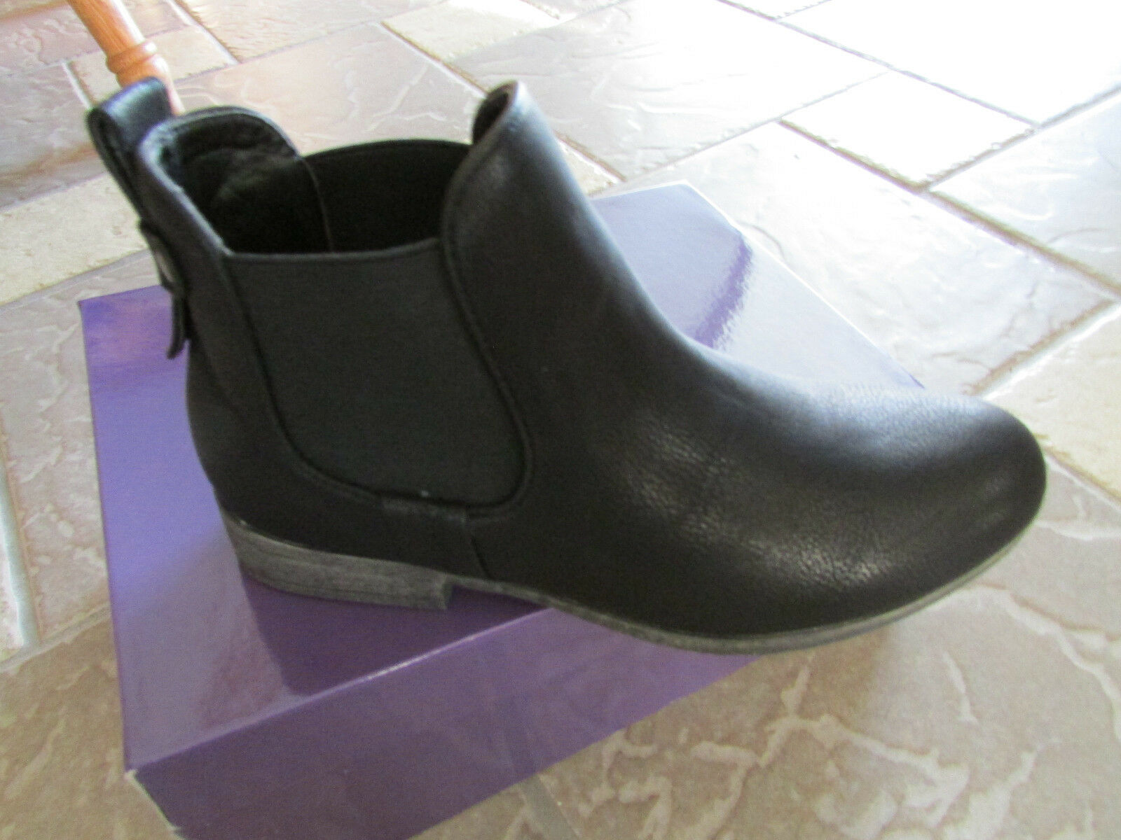 NEW MADDEN GIRL DRAAFT BLACK ANKLE BOOTS WOMENS 6.5 BOOTIES