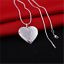 925-Sterling-Silver-Heart-Necklace-Locket-Photo-Pendant-Jewelry-Wedding-Gifts thumbnail 1