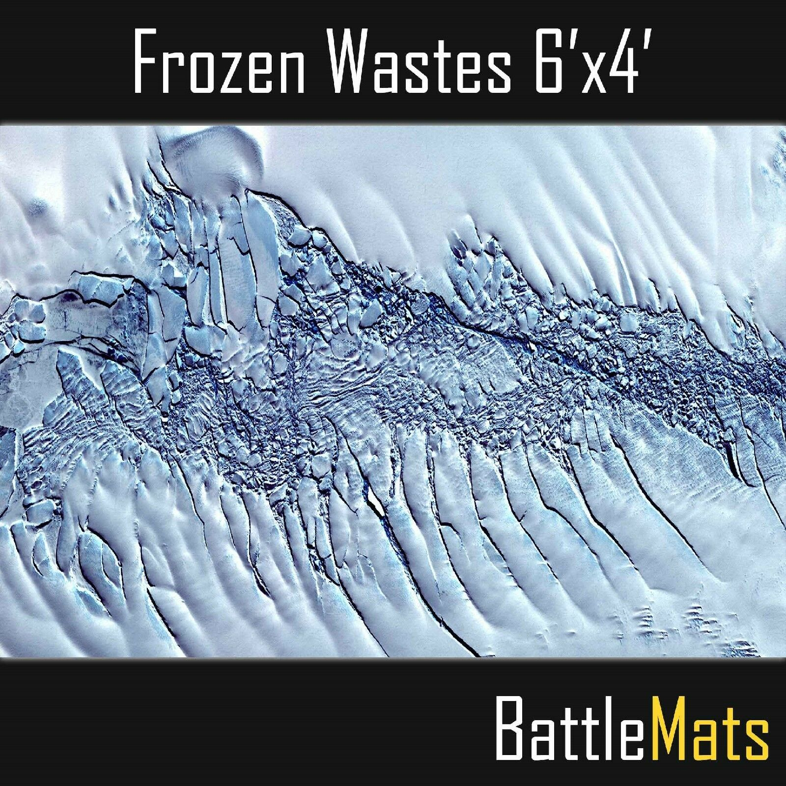 Gaming Battle PVC mat mat mat 6'x4' ideal for Warhammer 40k  Frozen Waste  terrain image 419