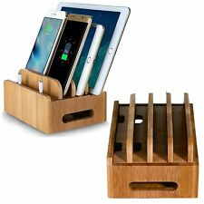 Business card holder for desk men office accessories supplies bamboo multi devices charging dock stand holder organizer for phonestablet reheart Gallery