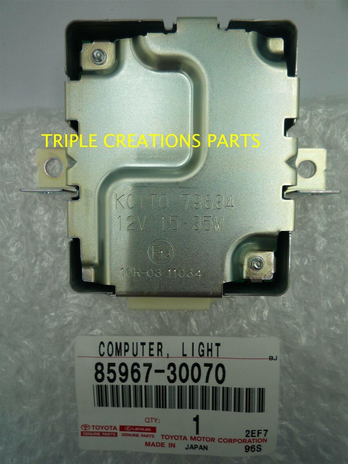 LIGHT CONTROL 85967-30070 8596730070 Genuine Toyota COMPUTER