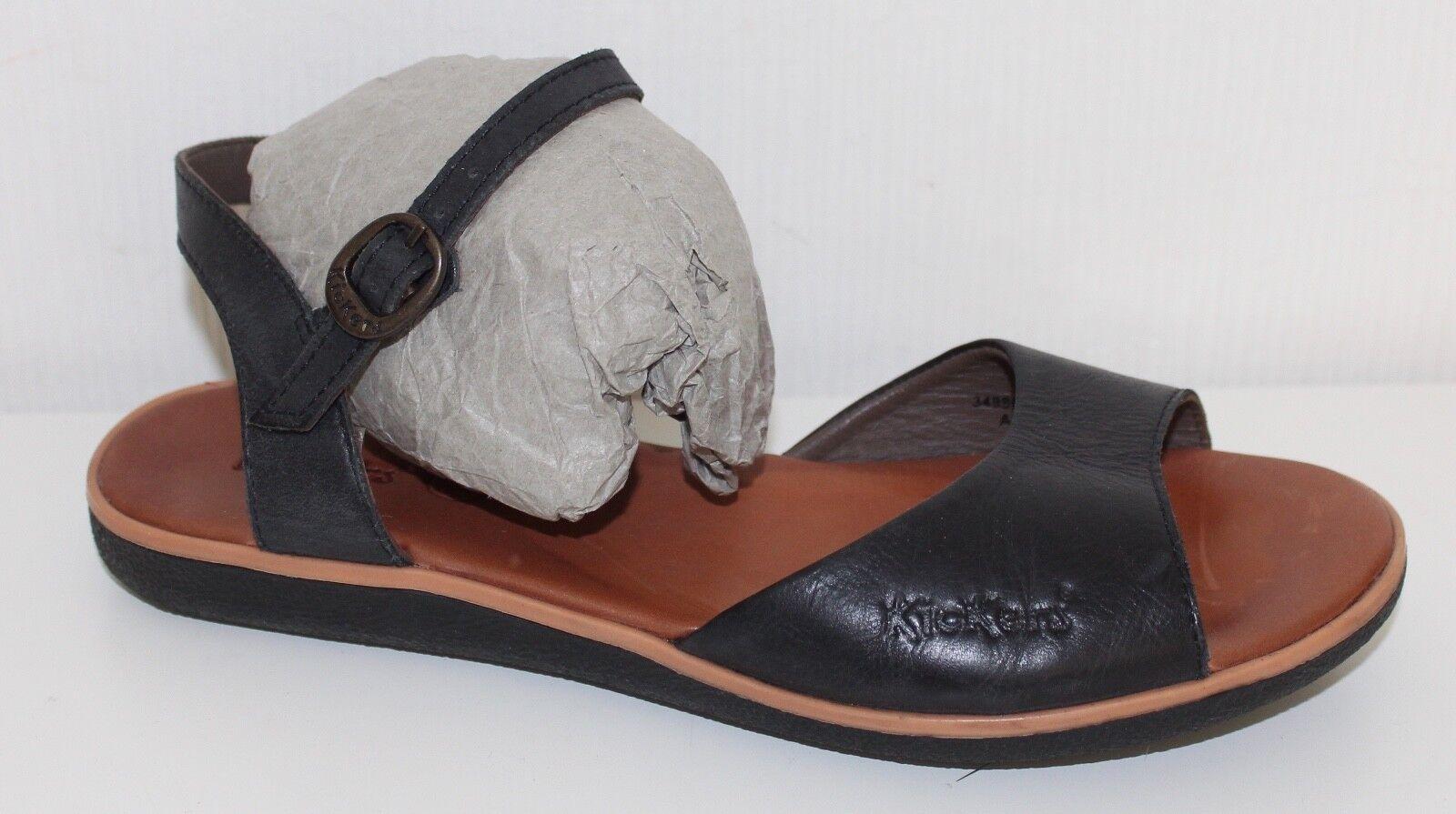 KICKERS femmes en cuir véritable chaussures sandales taille 37 neuve leather sandals uk4