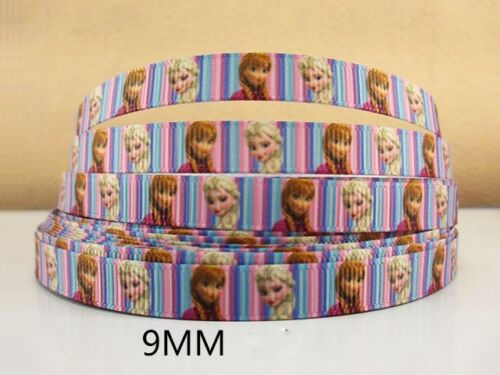 2 METRE FROZEN RIBBON SIZE 3//8 BOWS HEADBANDS BIRTHDAY CAKE HAIR CLIPS