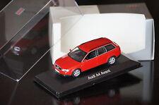 1:43 AUDI A4 Avant red No OVP MINICHAMPSB6 amulett rot Int:black schwarz quattro