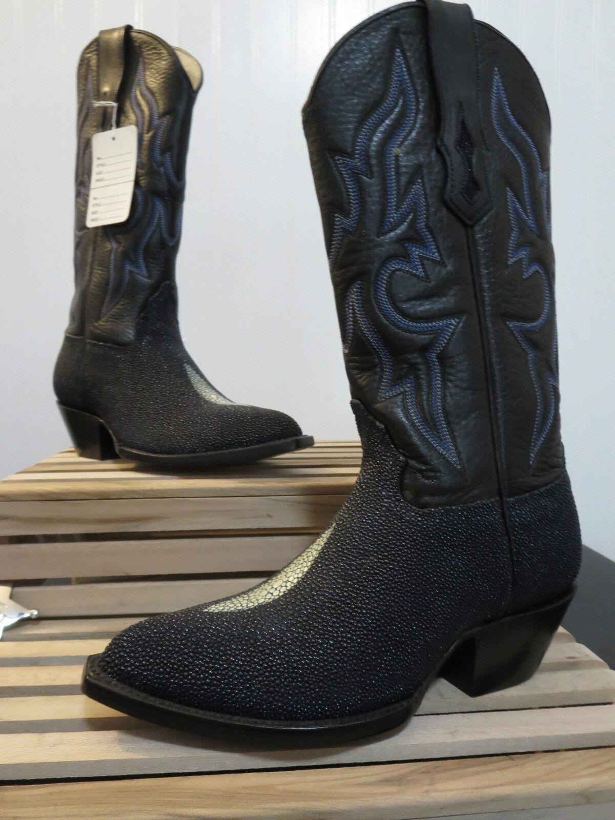 Star Boots Women's Dark Navy Blue Stingray Triad Boot W9002 Size 5.5 B, NEW