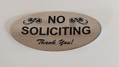 - Laser Engraved Signage Material No Soliciting Sign Gold Choose Color