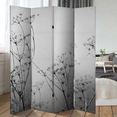 FOLDING ROOM DIVIDER WALL PARTITION PRIVACY SCREEN SPERATOR PARAVENT SCREEN grey