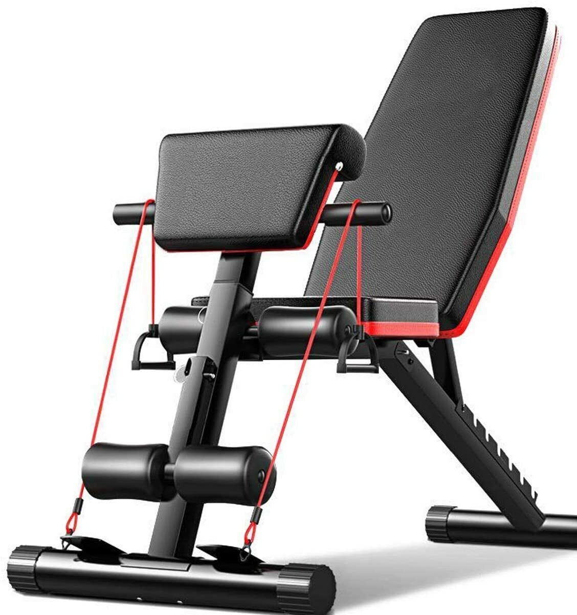 Banco de Pesas Fitness Ajustable Banco de Musculación Plegable Banco Gimnasio