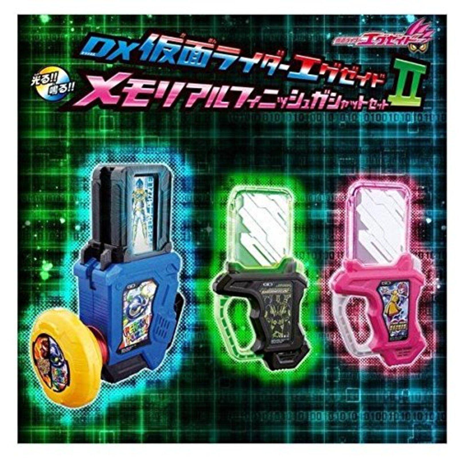 Premium Bandai DX Masked Kamen Rider EX-AID Memorial Finish Gashat Set II F/S
