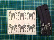 AR  Magazine SPIDER Sticker 6 Pack, Spiderman, AR, AK, GREY!