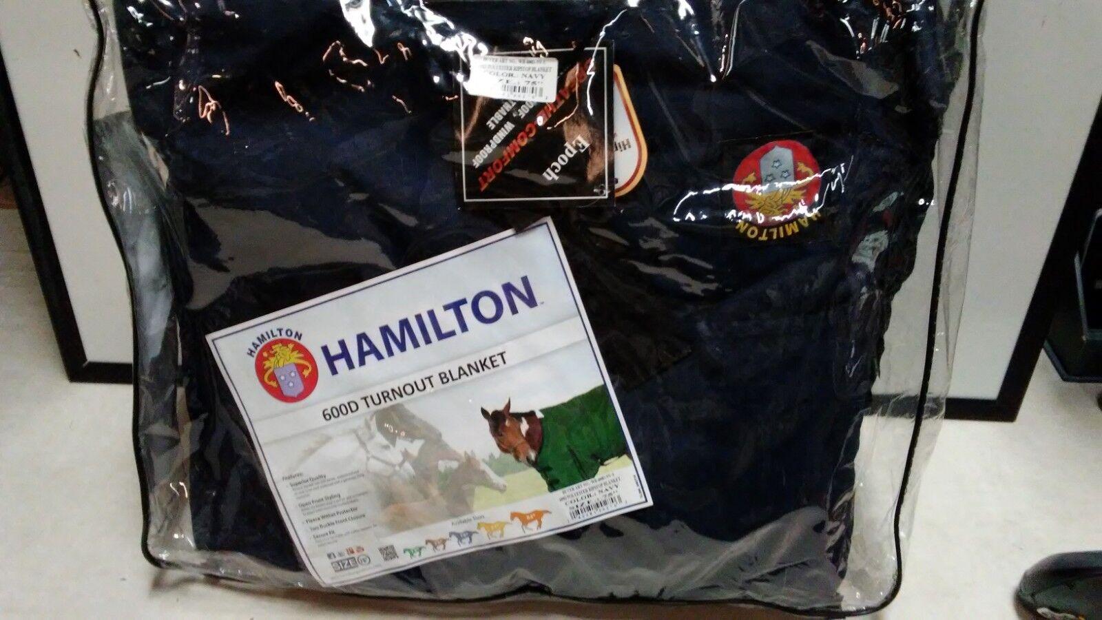 Hamilton 600D participación Manta   Azul Marino
