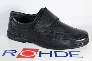 Rohde-Pantoufles-pour-hommes-Chaussures-de-sport-basses-Noir-Neuf
