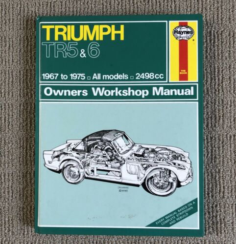 1 of 1 - TRIUMPH TR5 & 6 Owner's Workshop Manual Haynes; 1967 to 1975 All Models
