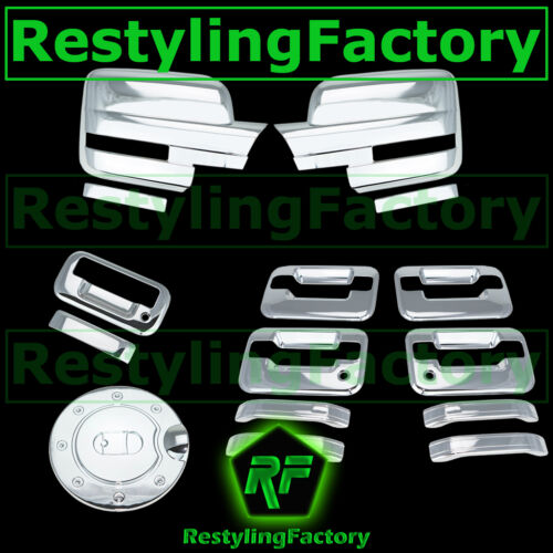 09-14 Ford F150 Chrome Mirror+4 Door Handle+no keypad+PSG KH+Tailgate+Gas Cover