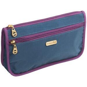 Image Is Loading Baggallini Fiji Large Wedge Case Makeup Bag Slate