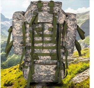 German Army Style Flecktarn Camo Survival Pack 65L Rucksack Bug Out Bag NEW